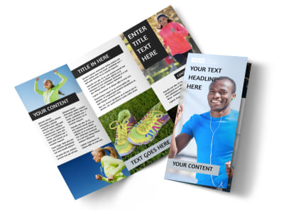 Running Clubs Tri-Fold Brochure Template preview