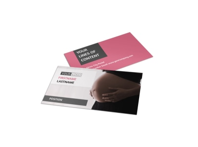 Pregnancy Counseling Business Card Template preview
