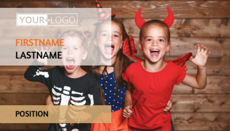 Halloween Costumes Business Card Template Preview 2