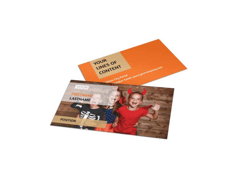 Halloween Costumes Business Card Template Preview 1