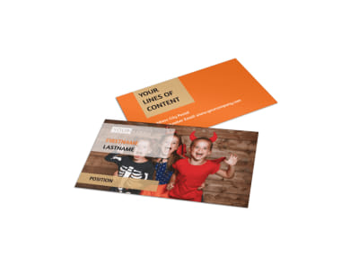 Halloween Costumes Business Card Template