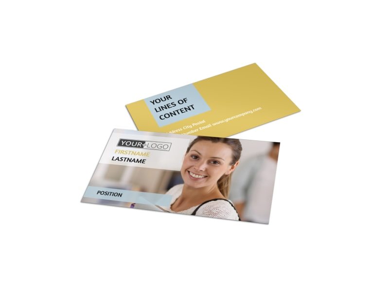 Leading Art & Design School Business Card Template Preview 4