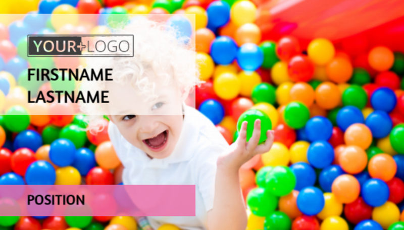 Childrens Activity Centers Business Card Template Preview 2