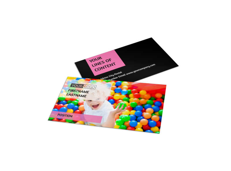 Childrens Activity Centers Business Card Template Preview 1