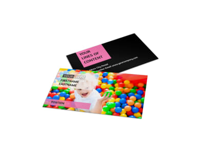Childrens Activity Centers Business Card Template