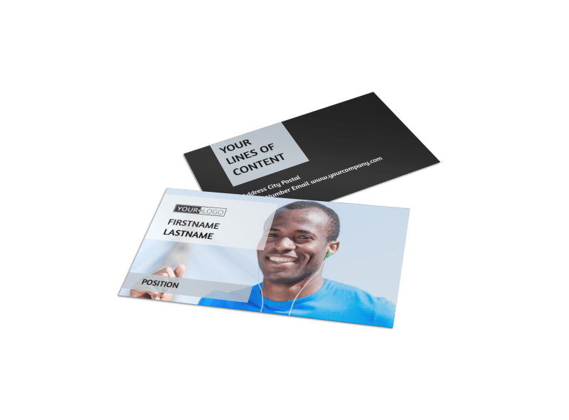 Running Clubs Business Card Template Preview 1