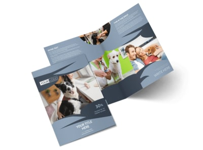 Pet Grooming Bi-Fold Brochure Template 2