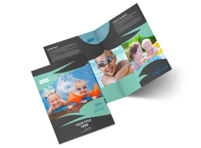 Swimming Lessons Bi-Fold Brochure Template 2
