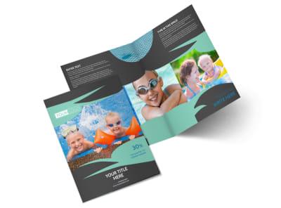 Swimming Lessons Bi-Fold Brochure Template 2