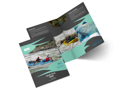 White Water Rafting Bi-Fold Brochure Template 2