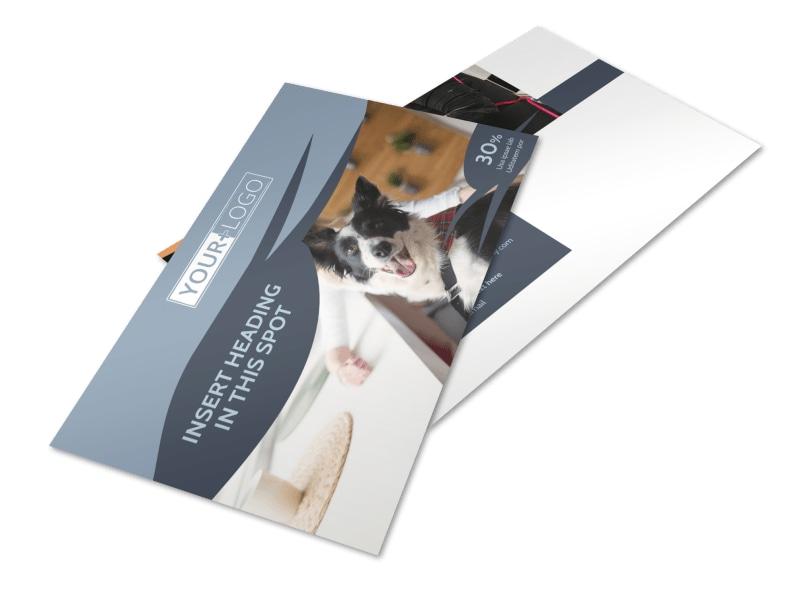 Pet Grooming Postcard Template 2