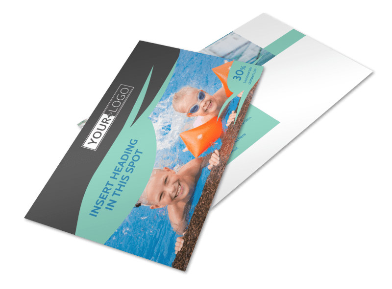 Swimming Lessons Postcard Template 2