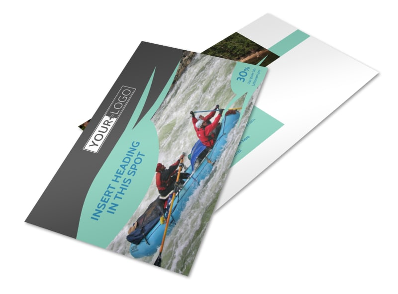 White Water Rafting Postcard Template 2