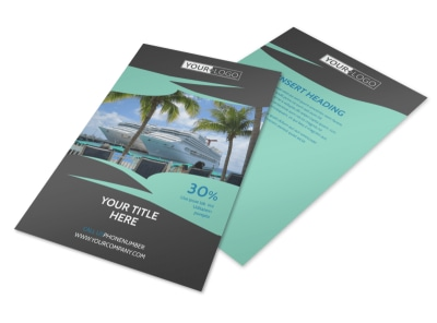 Caribbean Cruise Ship Flyer Template 3