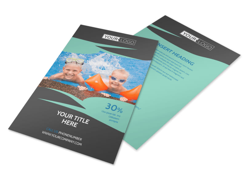 Swimming Lessons Flyer Template 3