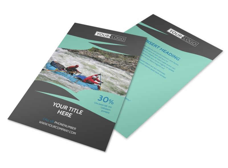 White Water Rafting Flyer Template 3