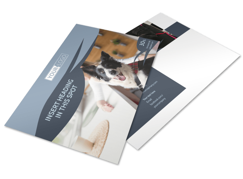 Pet Grooming Postcard Template Preview 1