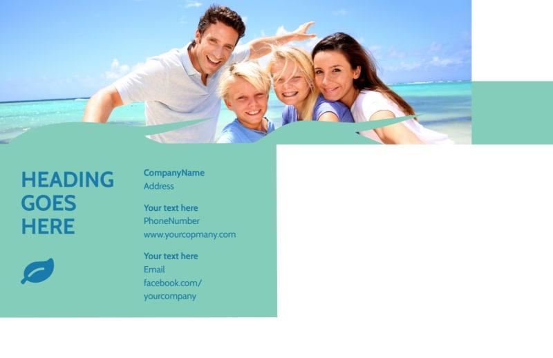 Caribbean Cruise Ship Postcard Template Preview 3