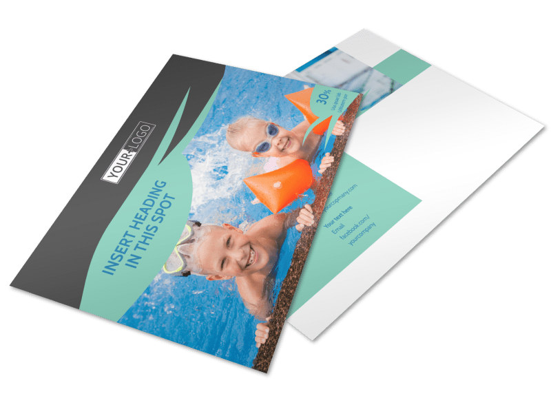 Swimming Lessons Postcard Template Preview 4