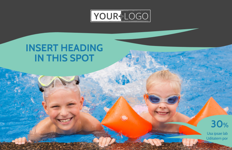 Swimming Lessons Postcard Template Preview 2