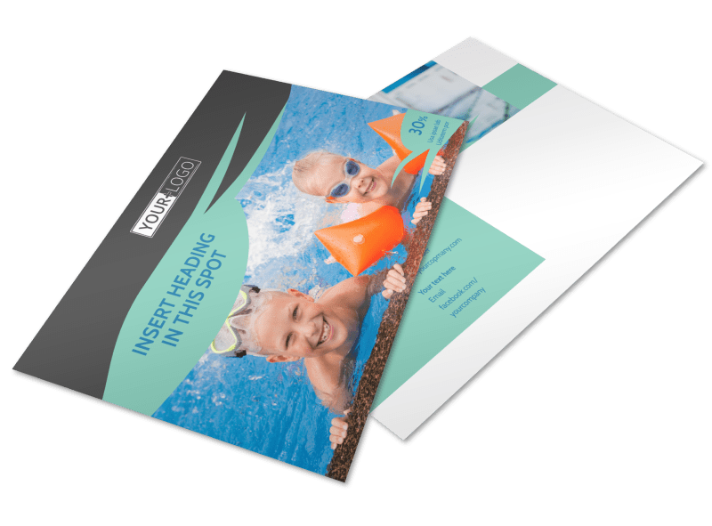 Swimming Lessons Postcard Template Preview 1