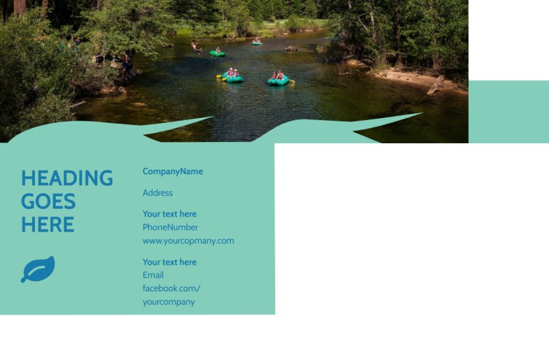 White Water Rafting Postcard Template Preview 3