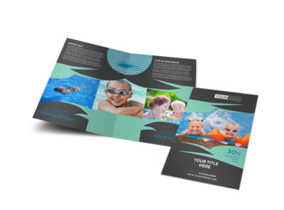 Swimming Lessons Bi-Fold Brochure Template
