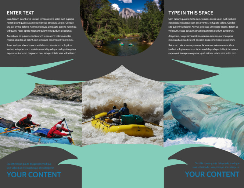 White Water Rafting Brochure Template Preview 3