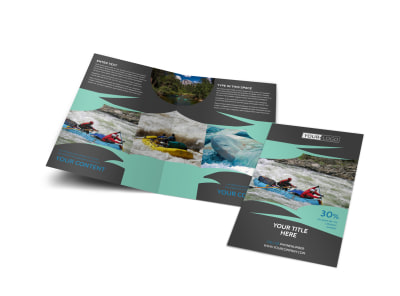 White Water Rafting Bi-Fold Brochure Template