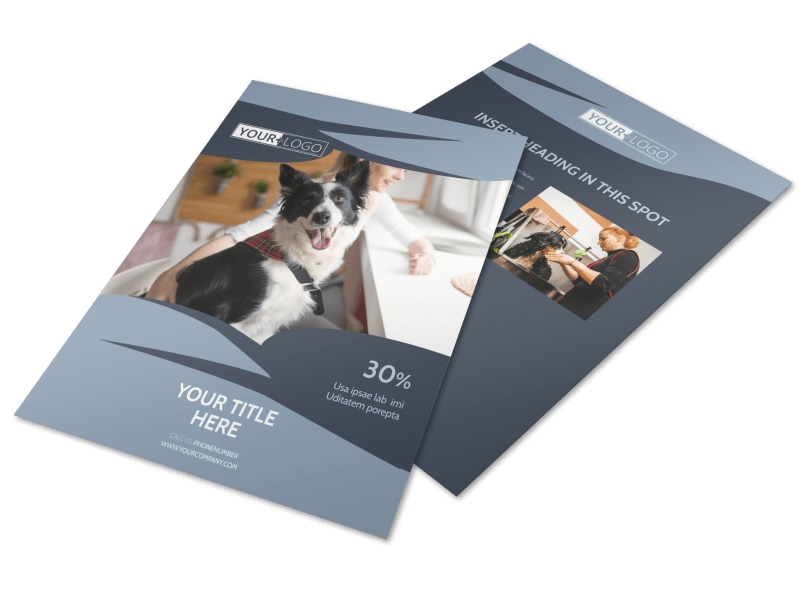 Pet Grooming Flyer Template Preview 4