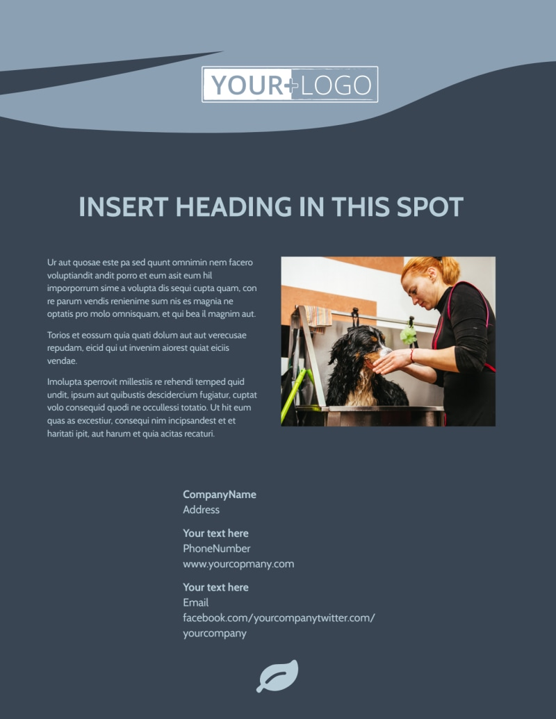 Pet Grooming Flyer Template Preview 3