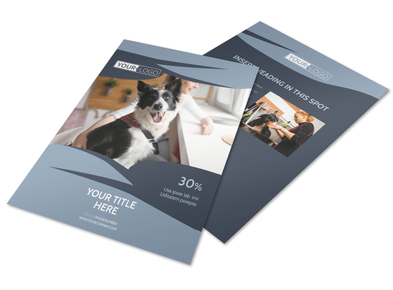 Pet Grooming Flyer Template Preview 1