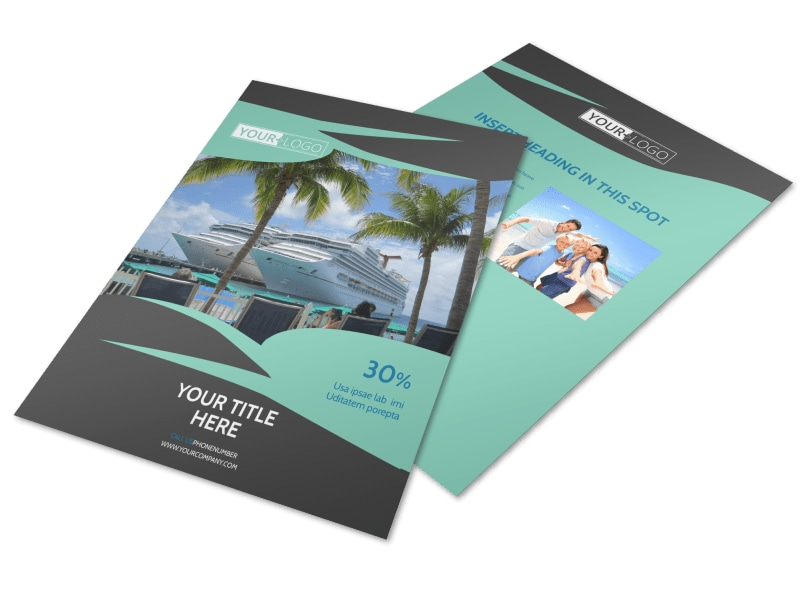 Caribbean Cruise Ship Flyer Template Preview 4