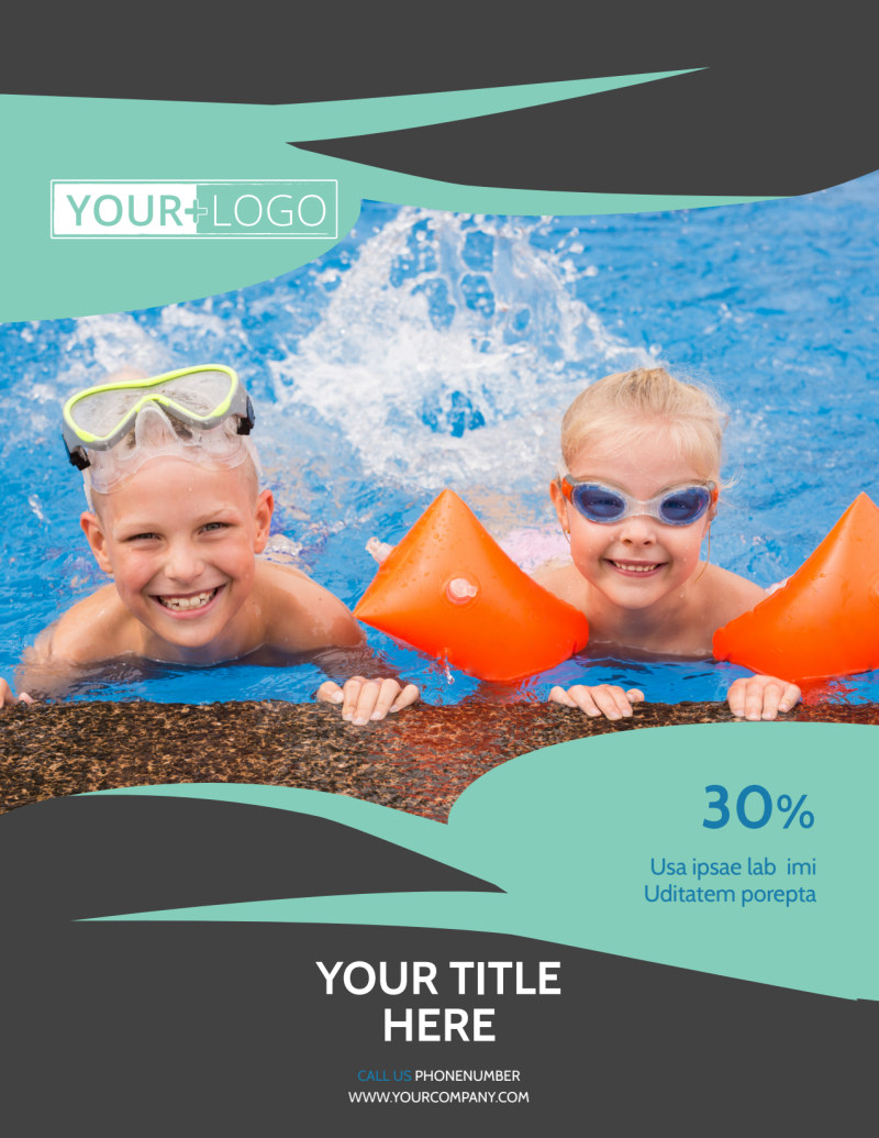 Swimming Lessons Flyer Template Preview 2