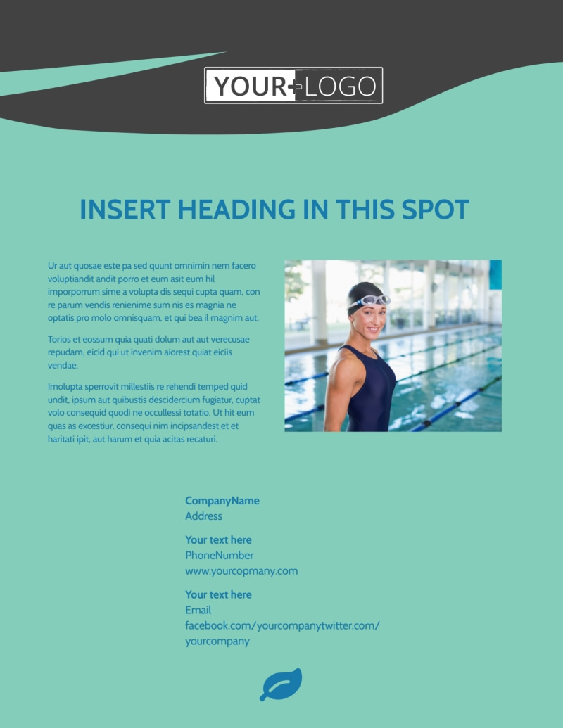 Swimming Lessons Flyer Template Preview 3