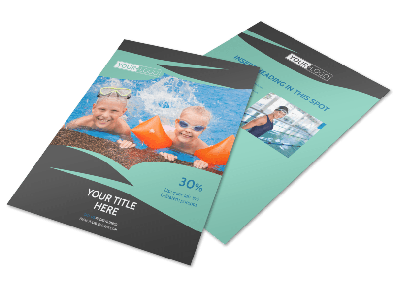 Swimming Lessons Flyer Template Preview 1