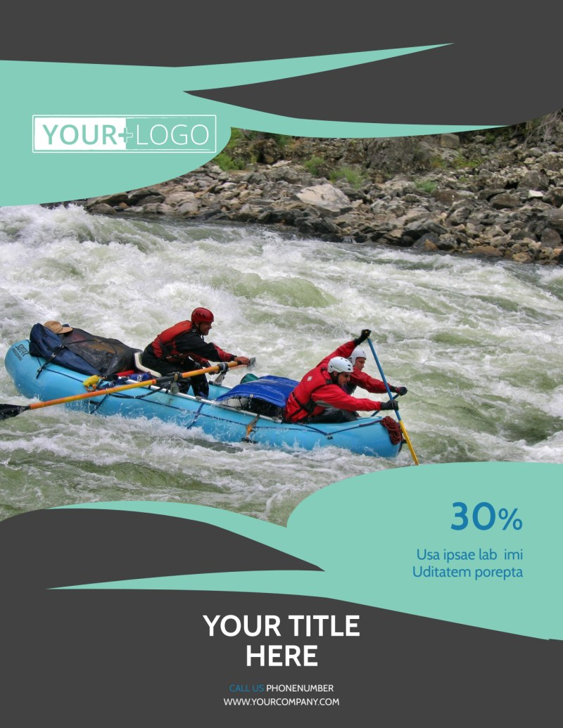 White Water Rafting Flyer Template Preview 2