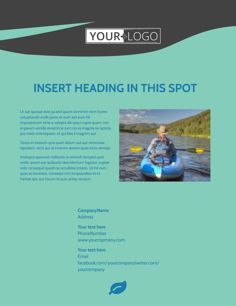 White Water Rafting Flyer Template Preview 3
