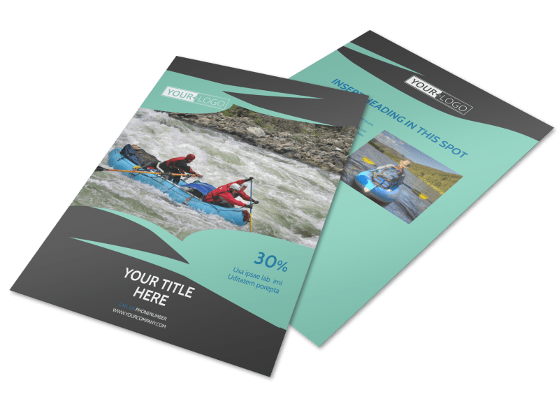 White Water Rafting Flyer Template Preview 1