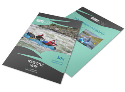 White Water Rafting Flyer Template