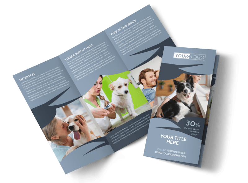 Pet Grooming Brochure Template Preview 1
