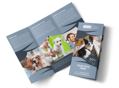 Pet Grooming Service Brochure Template preview