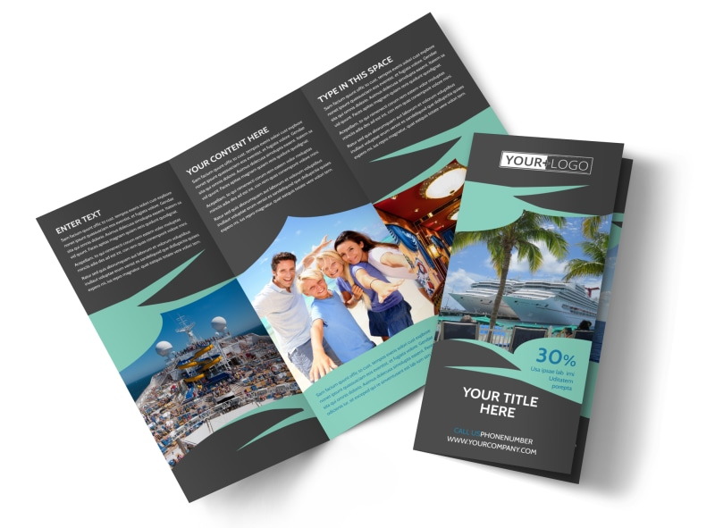 Caribbean cruise ship brochure template mycreativeshop for Cruise brochure template