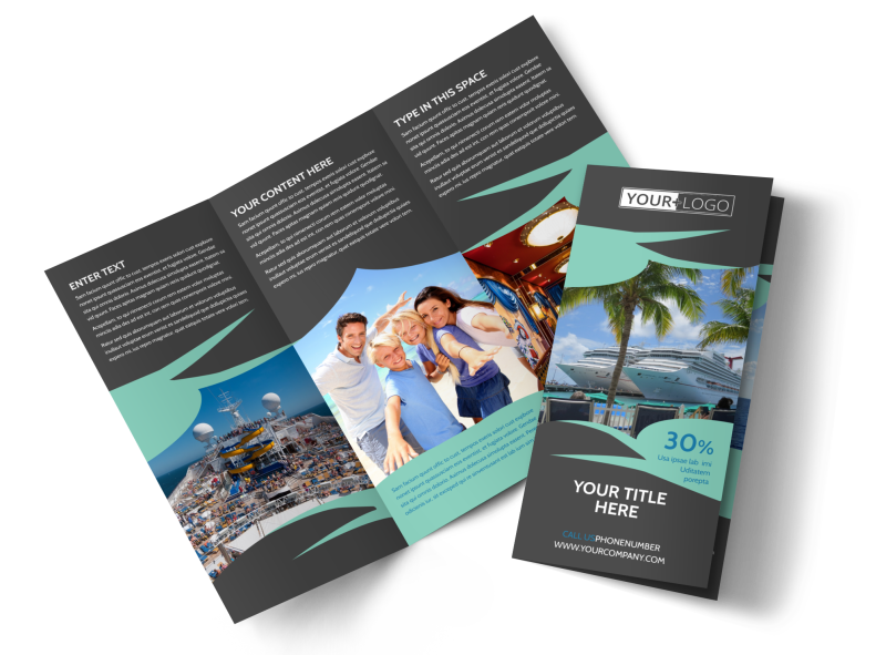 Caribbean Cruise Ship Brochure Template Preview 1