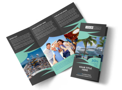 Caribbean Cruise Ship Tri-Fold Brochure Template