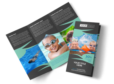 Swimming Lessons Tri-Fold Brochure Template