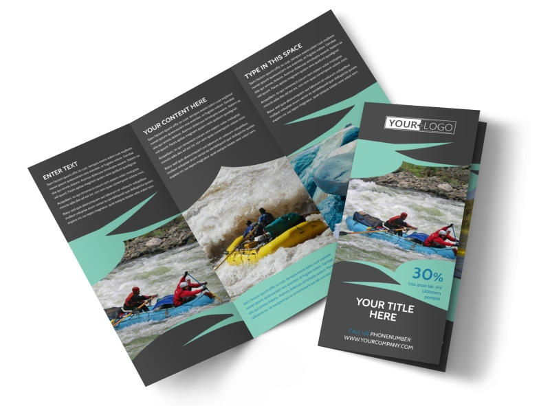 White Water Rafting Tri-Fold Brochure Template