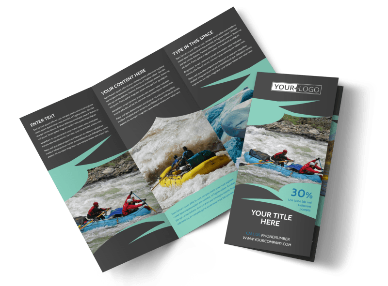 White Water Rafting Brochure Template Preview 1