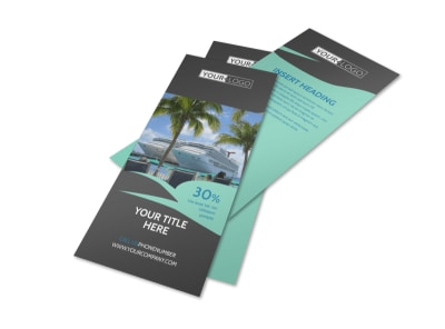 Caribbean Cruise Ship Flyer Template 2
