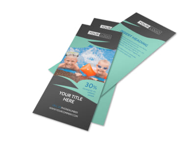 Swimming Lessons Flyer Template 2